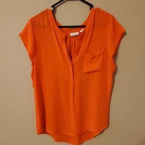 Liz Claiborne Orange/Red Blouse